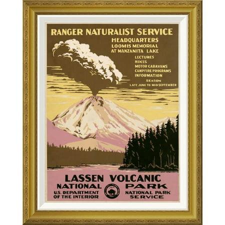 Global Gallery Lassen Volcanic National Park  Ca  1938 By Ranger Naturalist Service Framed Vintage Advertisement