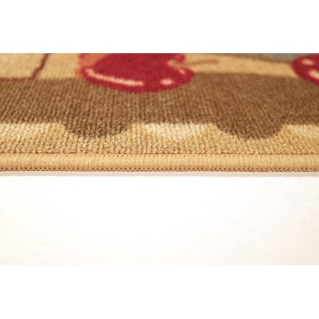 Anti-Bacterial Rubber Back Home and KITCHEN RUGS Non-Skid/Slip 2x5 | Red  Green Apple Basket | Decorative Kitchen Rug Runner Door Mats Low Profile ...