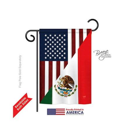 Breeze Decor 58205 US Mexico Friendship 2-Sided Impression Garden Flag - 13 x 18.5 in. - image 1 de 1