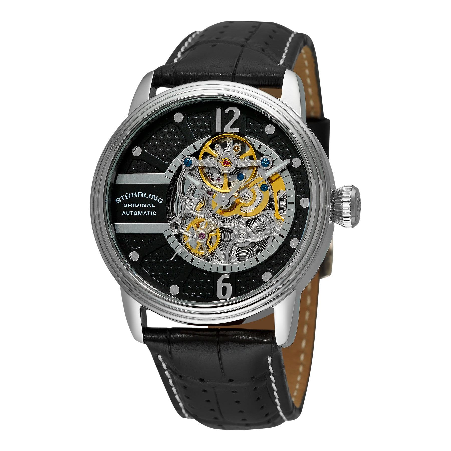 Stuhrling Original Men's 308A.33151 Prospero Classic Automatic Skeleton Black Dial Watch