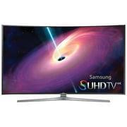 """Samsung UN55JS9000F - 55"""" Class (54.6"""" viewable) - JS9000 Series - curved 3D LED TV - Smart TV - 4K SUHD (2160p) 3840 x 2160 - edge-lit, Quantum Dot - silver black, titan black"""