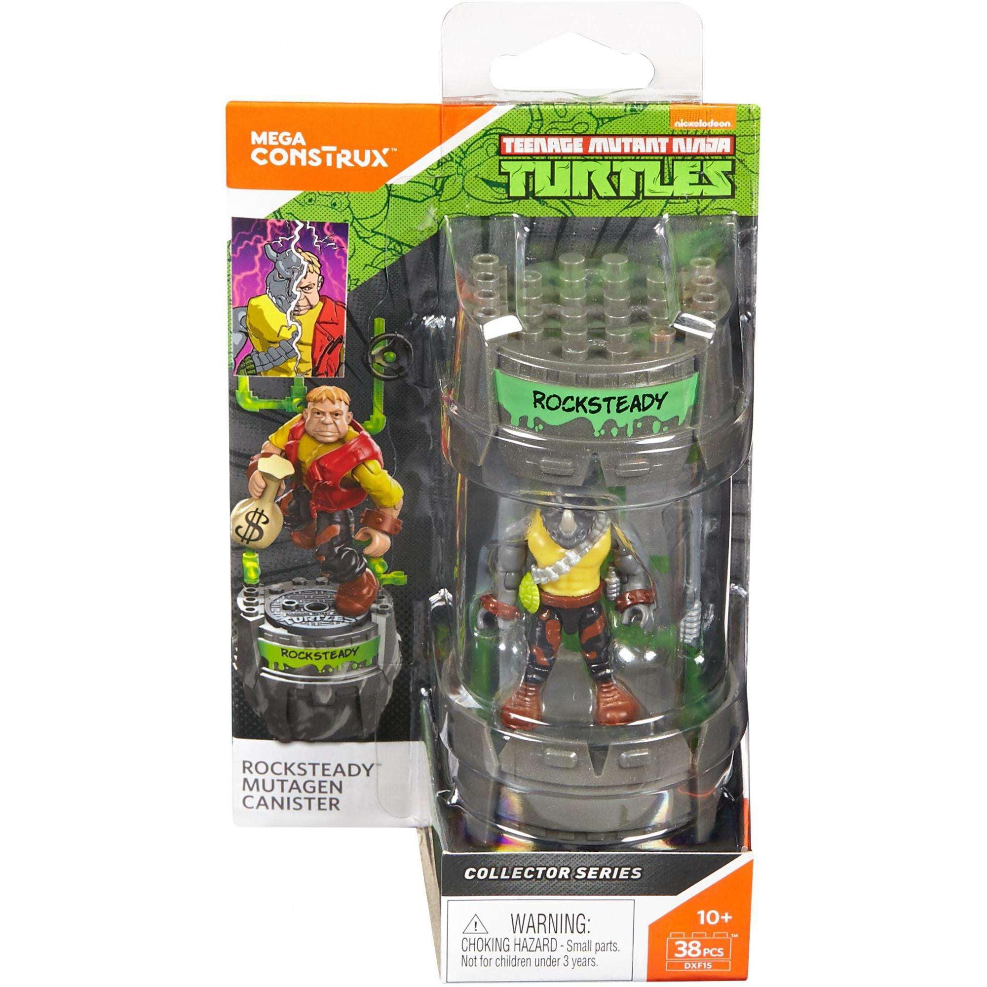 Mega Construx Teenage Mutant Ninja Turtles Rocksteady Mutagen Canister