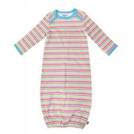 (Zutano Receiving Gown- Rainbow Candy Stripe, 3 Months)