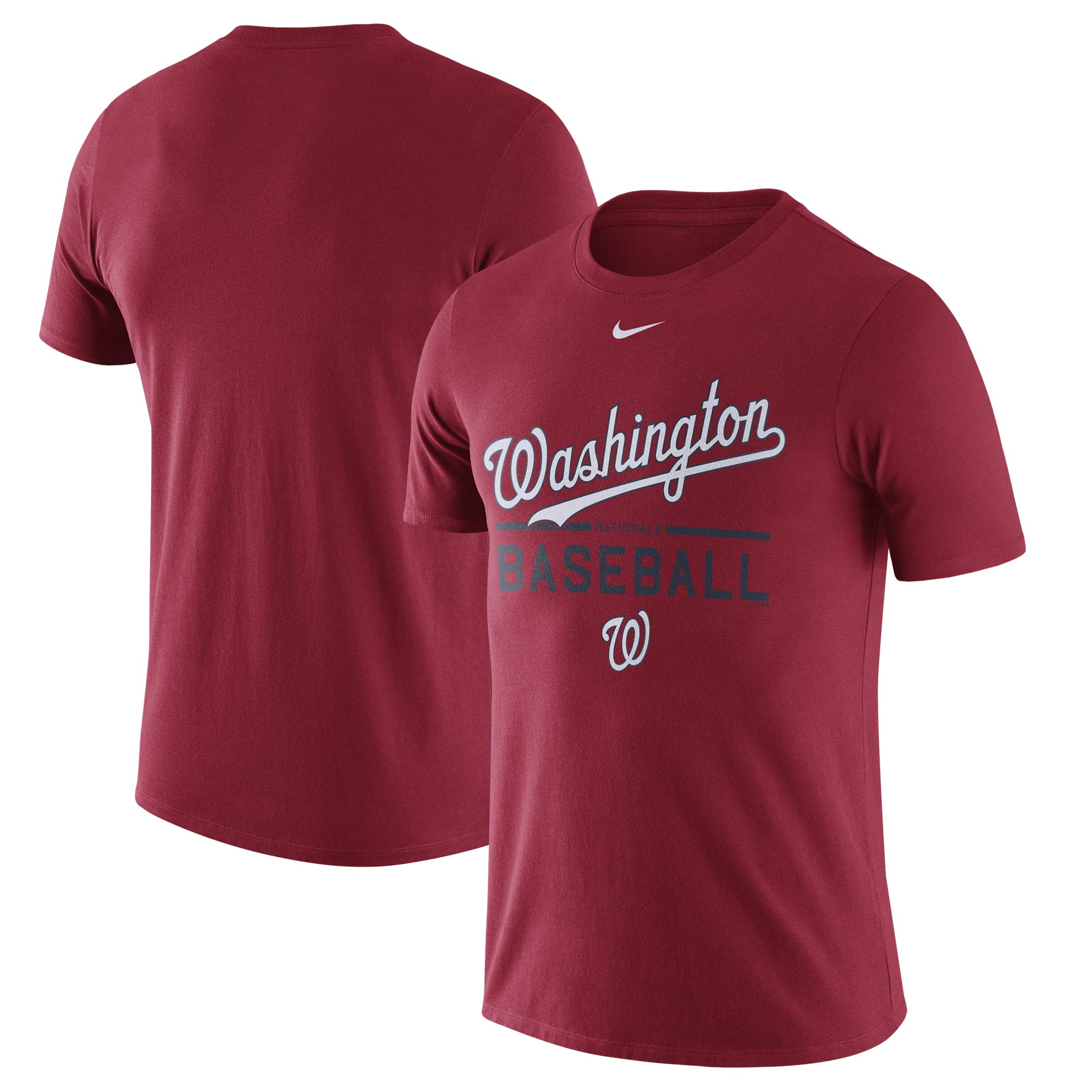 Men's Nike Red Washington Nationals Away Practice T-Shirt