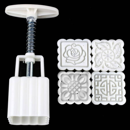 Reusable Square Hand Press Moon Cake Cookie Maker Stamp Mold Mid-autumn Festival DIY Decoration - image 4 of 6