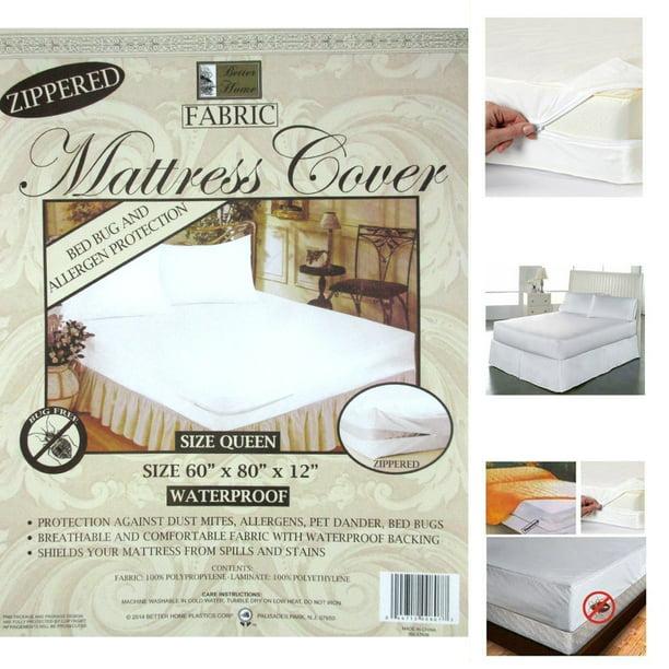 1 Queen Size Zippered Mattress Cover Waterproof Bed Bug Dust Mite