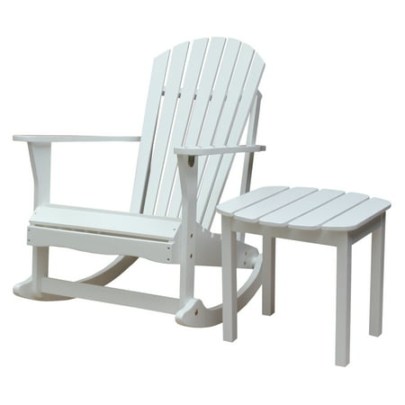 Side Rocker - Adirondack Rocker and Side Table in White