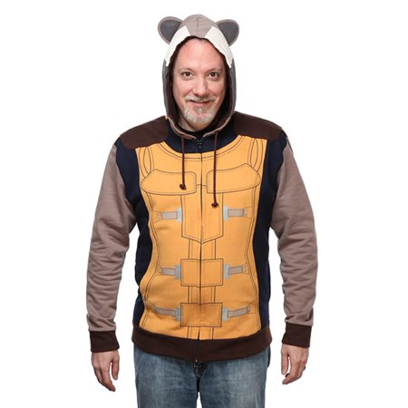 Marvel Guardians of the Galaxy Rocket Raccoon Adult Hoodie X-Large - image 1 de 1
