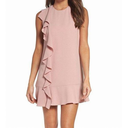 Charles Henry Womens Medium Petite Ruffle Shift Dress - David Charles Dresses Sale