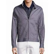 Michael Kors NEW Harrington Gray Mens Size XL Full-Zip Canvas Jacket