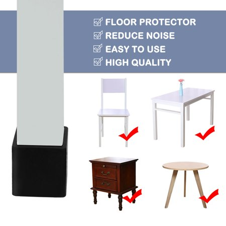 """Chair Table Leg Caps End Tip Home Furniture Protector 1""""x1"""" (25x25mm) - image 3 de 7"""