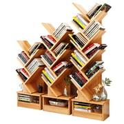 Tree Bookshelf Compact Book Rack Bookcase Display Storage Furniture for CDs, Movies & Books (5 Shelf)