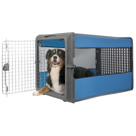 Dog Travel Kennel - Sportpet Large Pop Pet Crate, Travel Pet Crate, Portable Kennel, Dog Kennel, Large ( for use of Kennel Trained Pet Only)