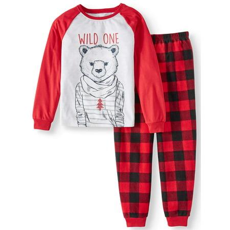 Polar Bear Family Sleep Pajamas, 2-piece Set (Little Girls & Big Girls)