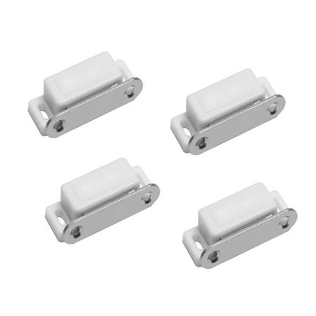 Magnetic Cabinet Catch, 4-pack Plastic Housing Plate Drawer Door Cabinet  Door Catch Latch for Cabinets, Doors, Cupboards, Drawers and Shutters