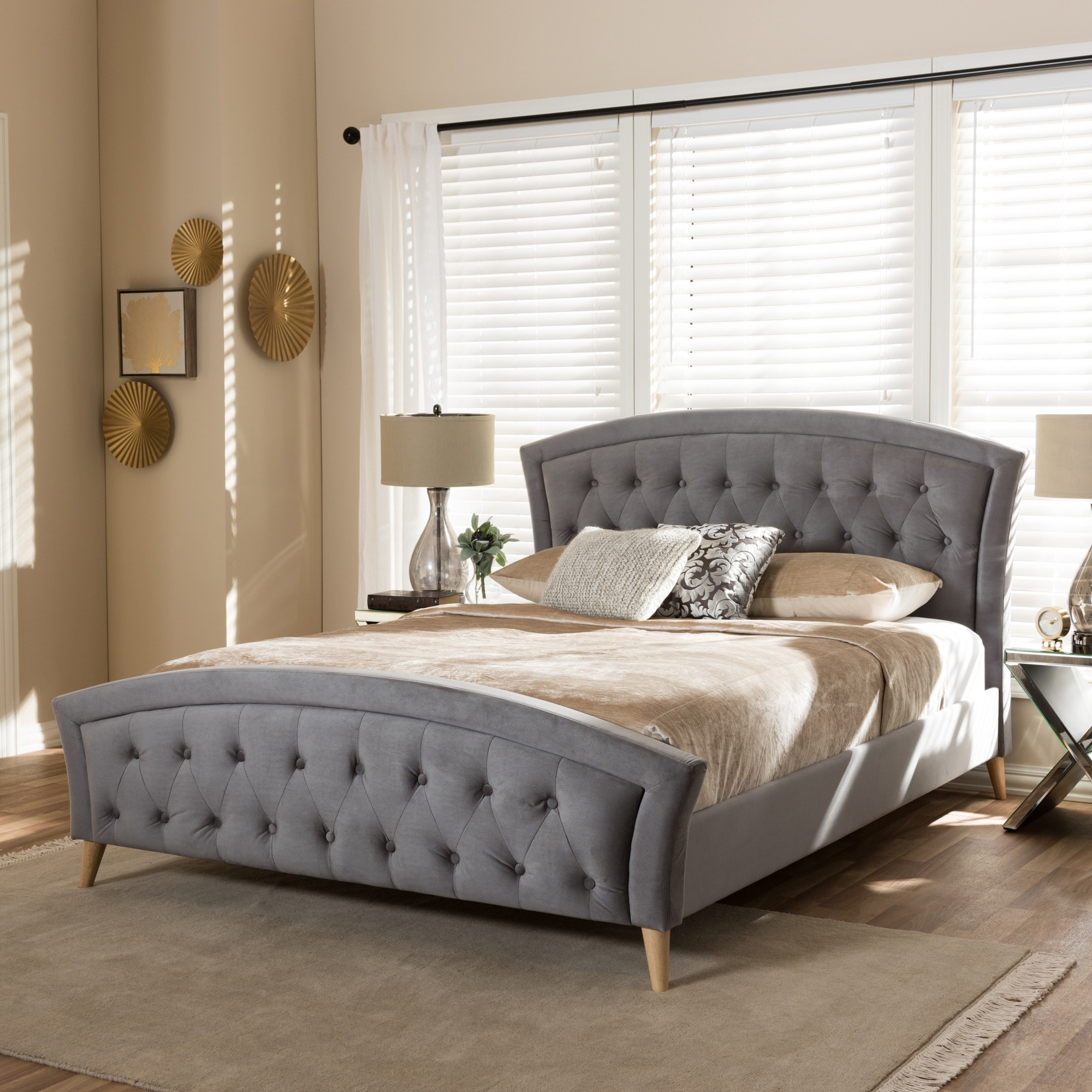 Baxton Studio Contemporary Fabric Platform Bed by