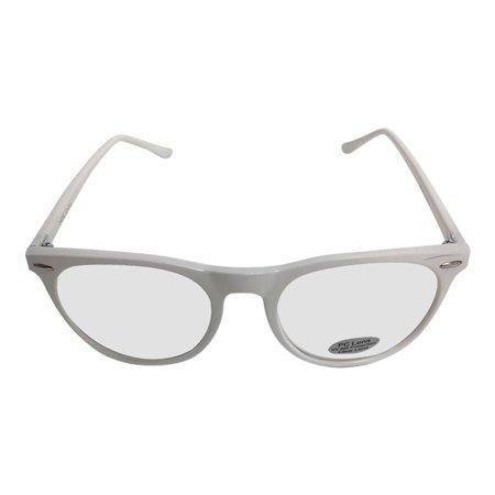 White Rounded Frame Clear Glasses Johnny Depp Sunglasses Round (Johnny Depp Wearing Glasses)