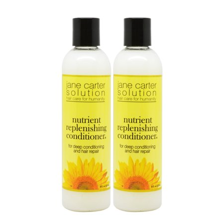 Jane Carter Nutrient Replenishing Conditioner, 8 oz-Pack of 2 Carter Two Shot