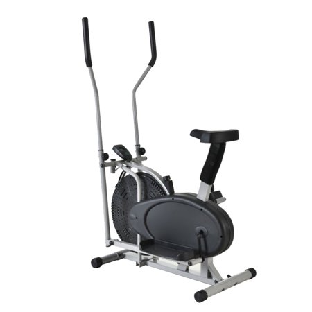 Ktaxon Intelligent Steel Elliptical Cross Trainer & Bike Fitness Equipment B Type Black & Silver