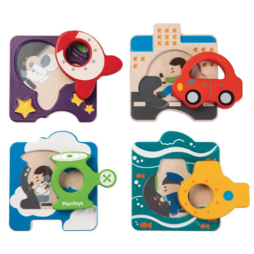 Vehicle Puzzles (Set of 4)