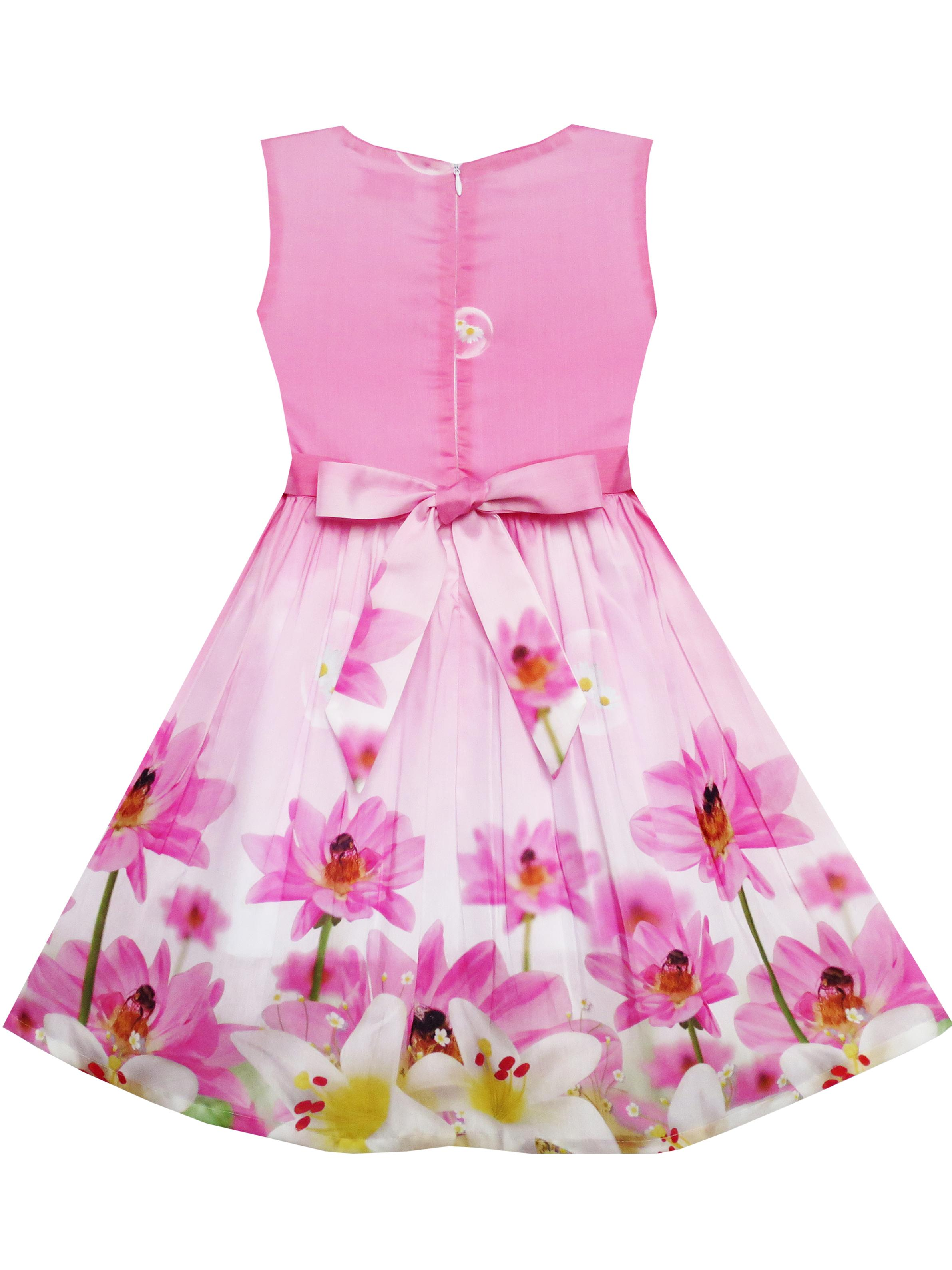 333a5d6e9171f Sunny Fashion - Girls Dress Sunflower Bubble Lily Flower Garden ...