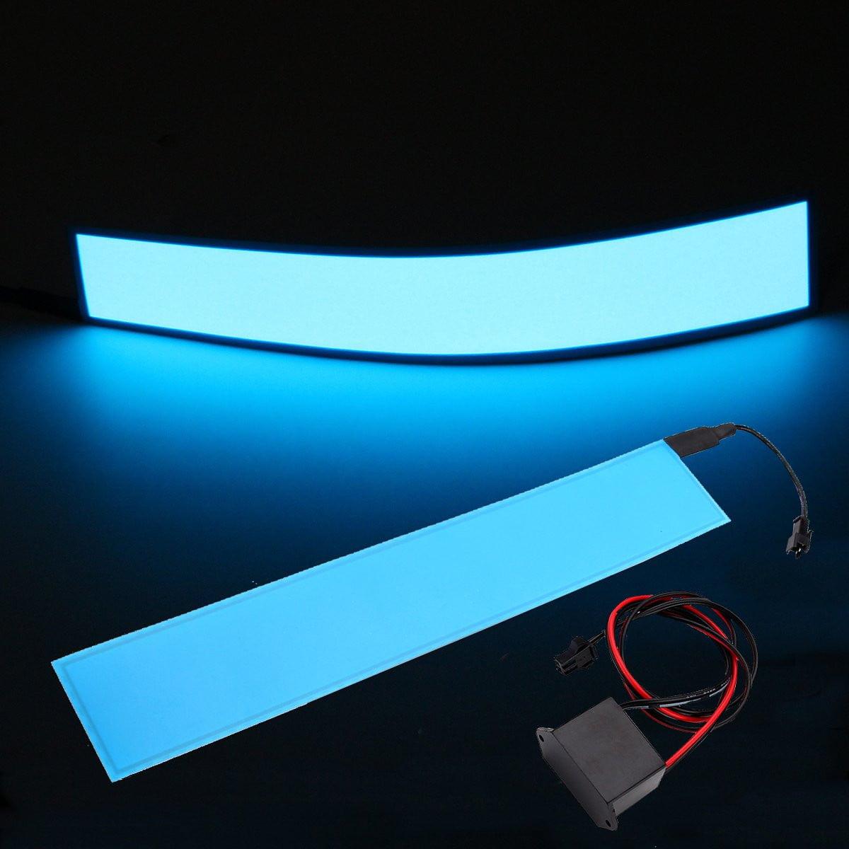 12''x2'' 12V EL Cinta Panel Electroluminiscente Luces Tiras + Inverter 6 Colores