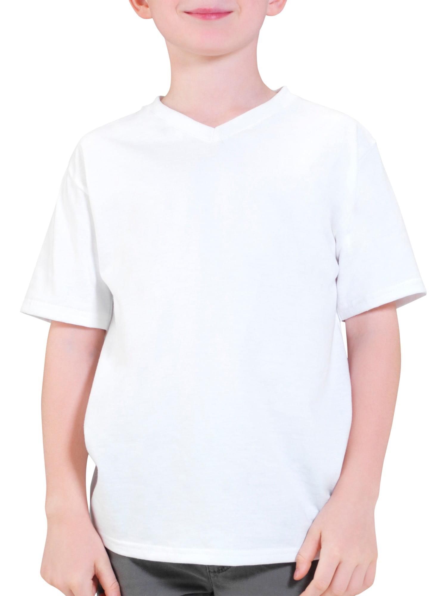 Boys' Short Sleeve V-Neck T Shirt by Fruit of the Loom