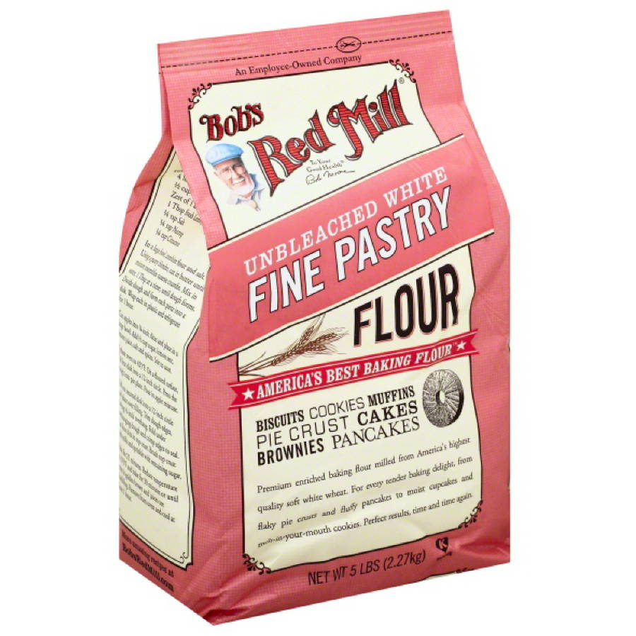 Bob's Red Mill Fine Pastry Flour, 5 lb, (Pack of 4) by