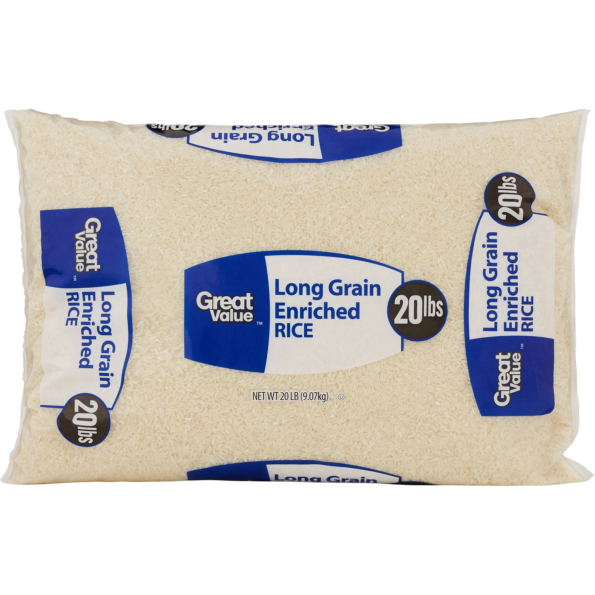 Great Value: Long Grain Enriched Rice, 20 Lb