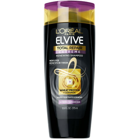 L'Oreal Paris Elvive Total Repair Extreme Renewing Shampoo, 12.6 fl. oz.