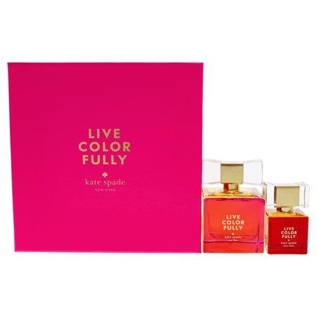 Live Colorfully by Kate Spade for Women - 2 Pc Gift Set 3.4oz EDP Spray, 1oz EDP Spray ()