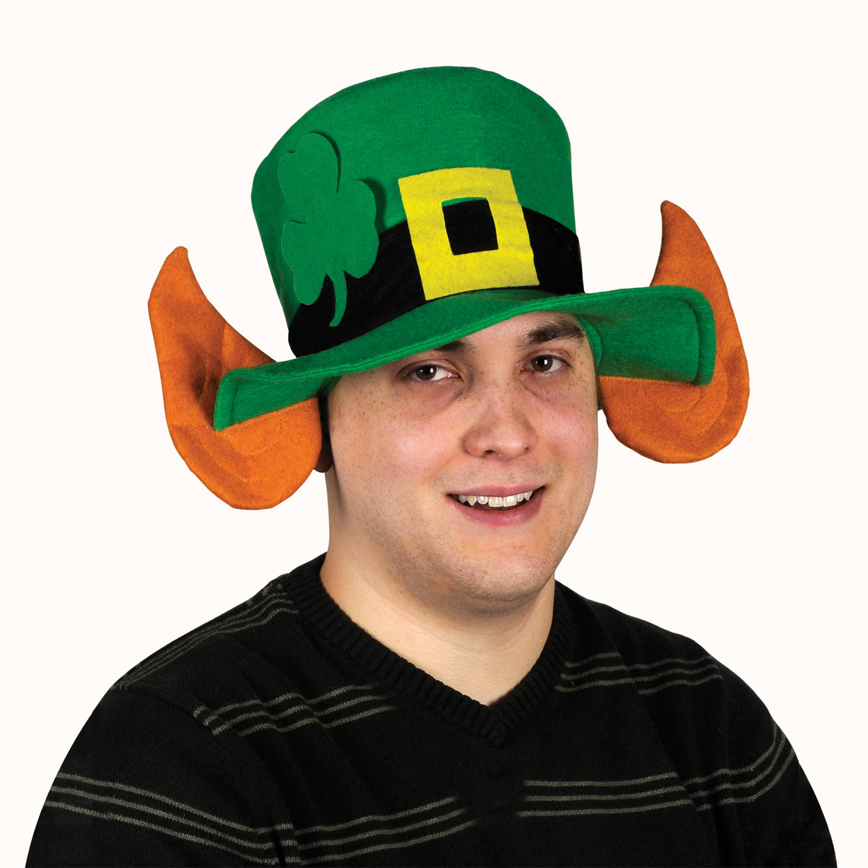 Felt Leprechaun Hat with Ears Adult Halloween Accessory