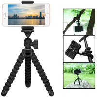 Camera Phone Tripod - Flexible Tripod for iPhone Android Phone with Wireless Remote Shutter Compatible with iPhone, Android Samsung, Camera, Sports Camera GoPro-1PACK