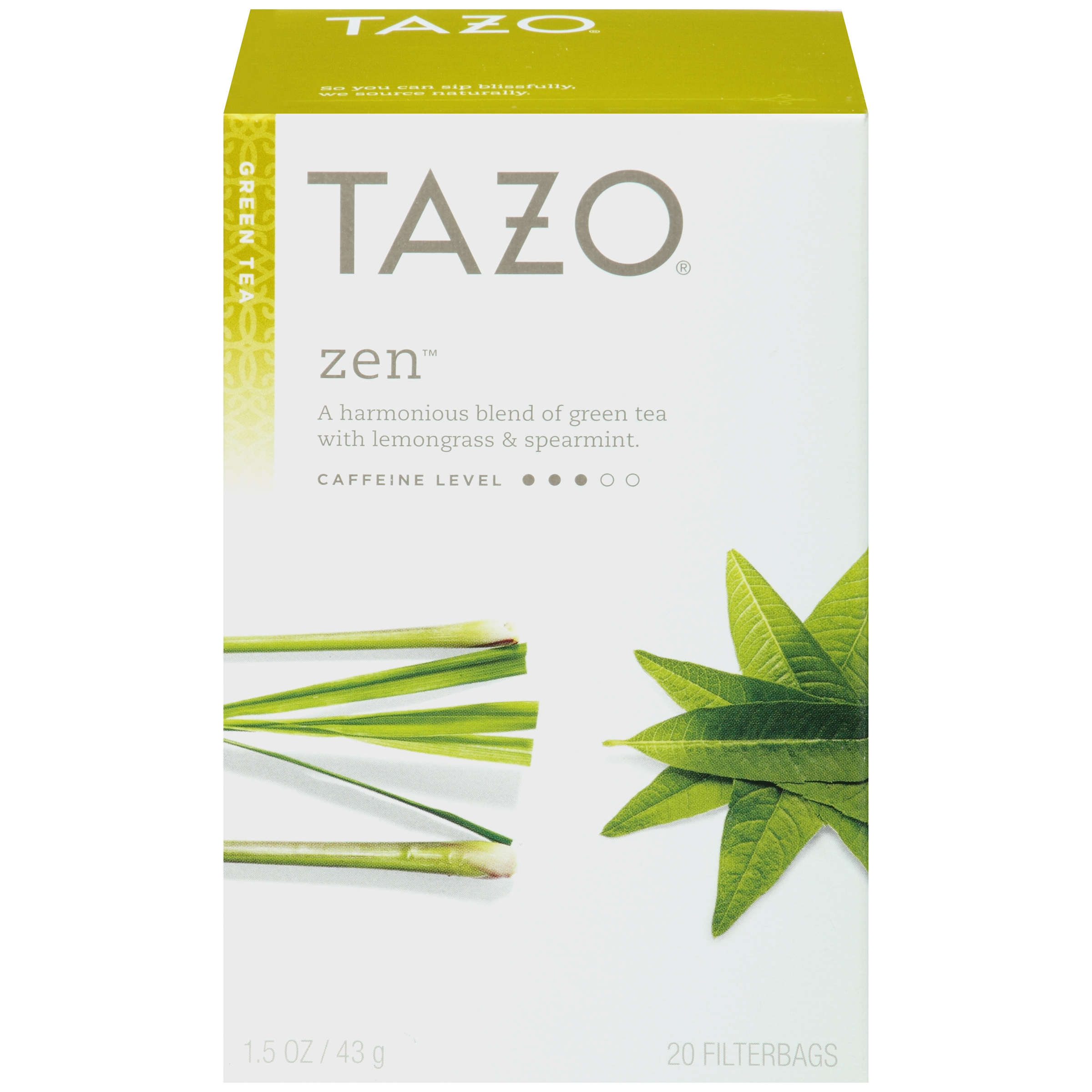 (3 Pack) Tazo Zen Tea bags Green tea 20ct