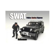 American Diorama 77420 1 by 18 Scale SWAT Team Rifleman Figure for Models
