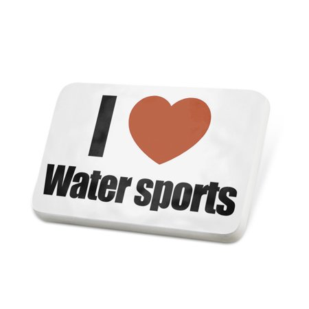Porcelein Pin I Love Water sports Lapel Badge – NEONBLOND