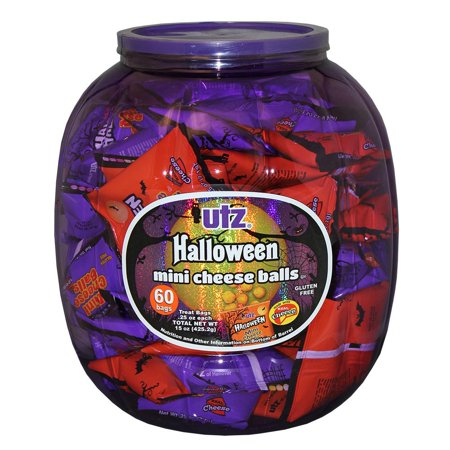 Utz Halloween Mini Cheddar Cheese Balls, .25 oz. 60 count Barrel