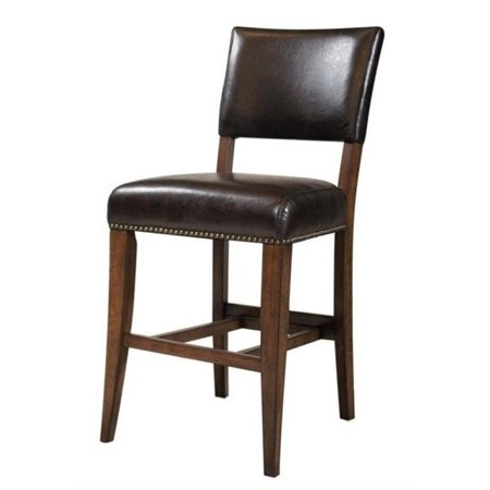 "Bowery Hill 26"" Faux Leather Counter Stool in Brown (Set of 2) - image 1 of 1"