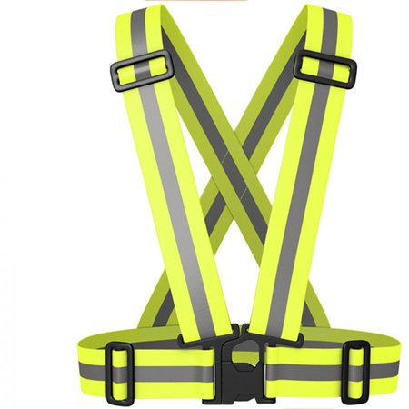 Adjustable Safety Reflective Vest Belt High Visibility For Night for Running, Cycling, Walking