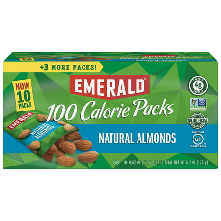 Emerald Nuts Natural Almonds, 100 Calorie Packs, 10