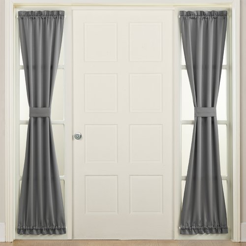 Sun Zero Bartlett Energy Efficient Side Light Door Curtain Panel