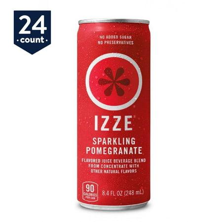 IZZE Sparkling Juice, Pomegranate, 8.4 fl oz Cans, 24 Count