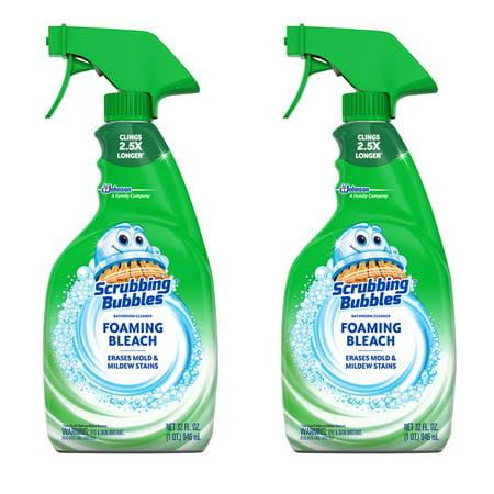 (2 pack) Scrubbing Bubbles Foaming Bleach Bathroom Cleaner 32 fl