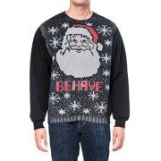 American Rag Men's Santa Claus Ugly Christmas Sweatshirt Black