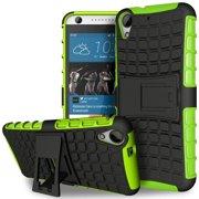 HTC Desire 530 / Desire 630 TPU Slim Rugged Hybrid Stand Case Cover Green