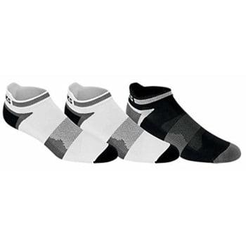 Asics Running Socks (asics unisex quick lyte cushion single tI socks (3 pairs), white/black, large )