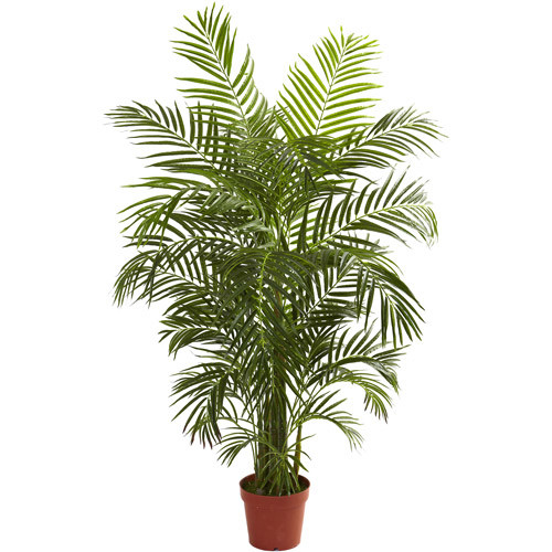 Nearly Natural 4-1/2' Areca Palm, UV Resistant, Indoor and Outdoor