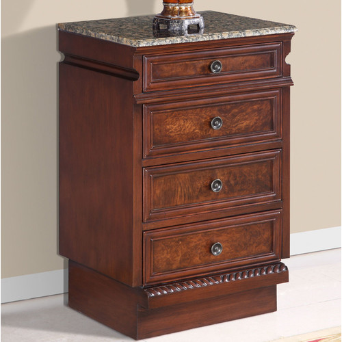 Silkroad Exclusive 4 Drawer Accent Chest
