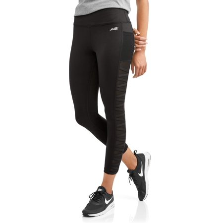 faac9da495ada2 Avia - Women's Active Lattice Mesh Insert Crop Leggings With Media Pocket -  Walmart.com