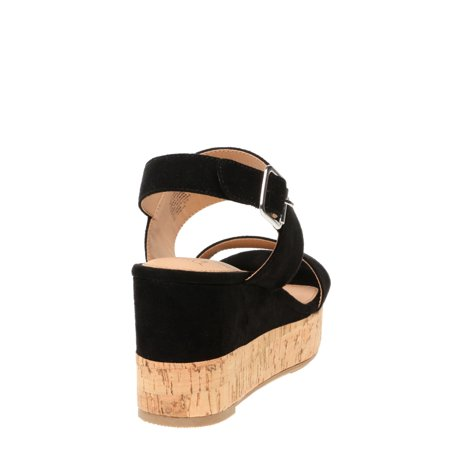 Time and Tru Covered Cork Wedge (Women's)
